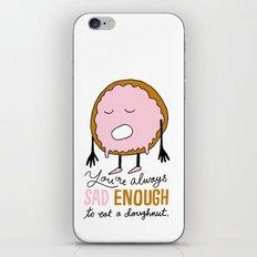 Sad Doughnut iPhone & iPod Skin