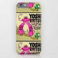 iPhone & iPod Case featuring Yoshi Battles The Pink Robots by Chris Piascik