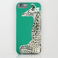 iPhone & iPod Case featuring Giraffe in Green by Sunshine Inspired Designs