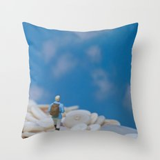 The Great Button Hike Throw Pillow