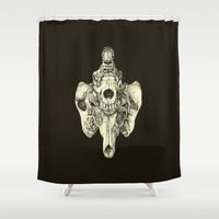 Coyote Skulls - Black An… Shower Curtain
