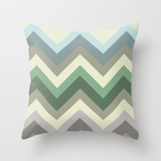 pastel chevron Throw Pillow