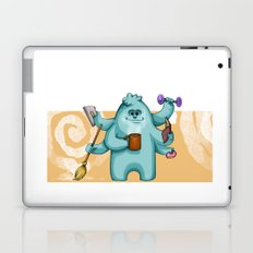 Multitasking Monster Laptop & iPad Skin
