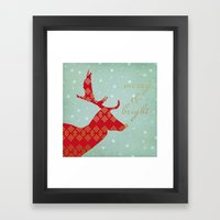Merry & Bright Framed Art Print
