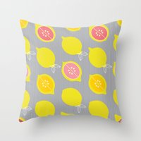 Lemony Throw Pillow