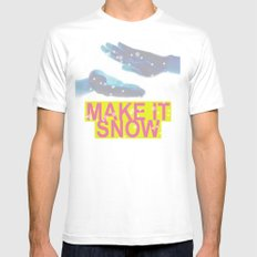 make it snow SMALL White Mens Fitted Tee