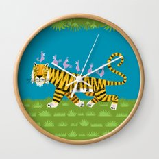 Tiger Transportation Wall Clock