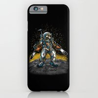 iPhone & iPod Case featuring Texas Chainsaw Astronaut by Nick Volkert