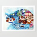 Earl Grey tea cat Art Print