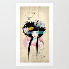 Nenufar Girl Art Print