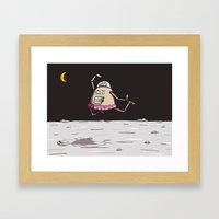 On the moon 2 Framed Art Print