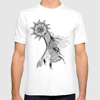 Floral Dance Mens Fitted Tee White SMALL