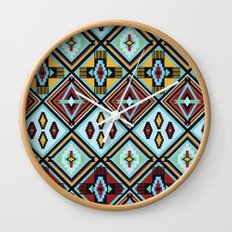 NATIVE AMERICAN PRINT Wall Clock