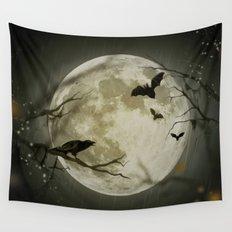 Halloween Scene Wall Tapestry