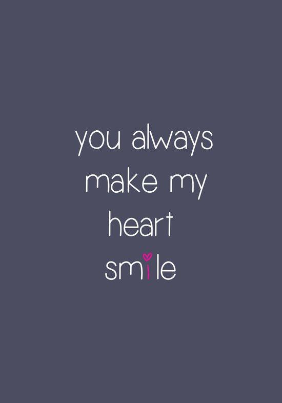 you always make my heart smile Art Print