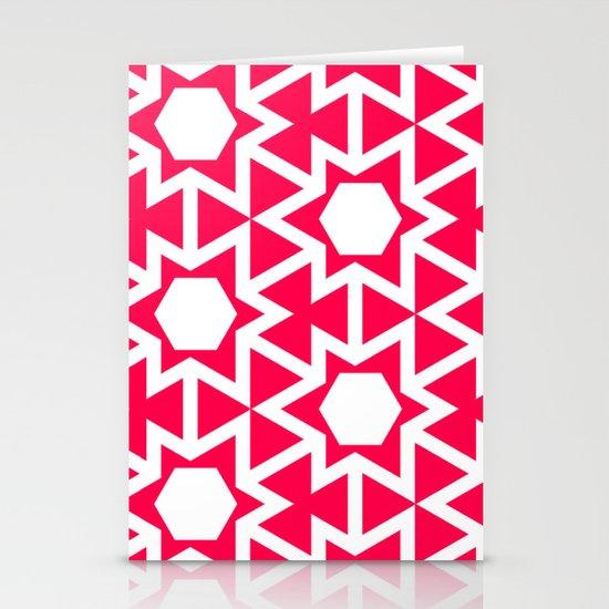 Zoutman Neon Pink Pattern Stationery Card