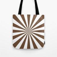 Starburst (Coffee/White) Tote Bag