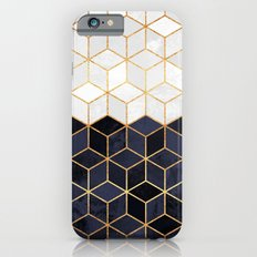 White & Navy Cubes Slim Case iPhone 6s