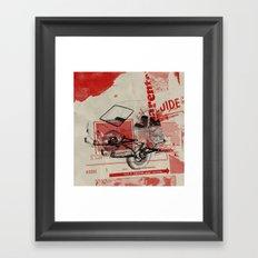 fin des emissions Framed Art Print