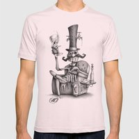 #13 Mens Fitted Tee Light Pink SMALL