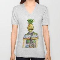 Mr. Pineapple Unisex V-Neck