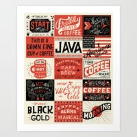 coffee Art Prints featuring Coffee by Mary Kate McDevitt