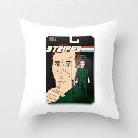 Stripes Action Figure Throw Pillow