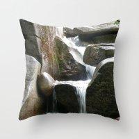 Rocky Water Fall Throw Pillow