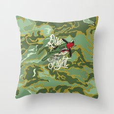 Rise and Fight Throw Pillow