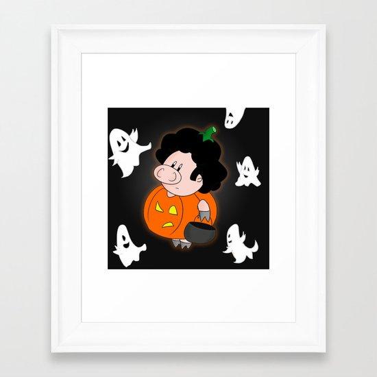 Halloweenie Framed Art Print