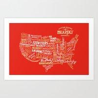 UNITED STATES OF BEARDLY Art Print