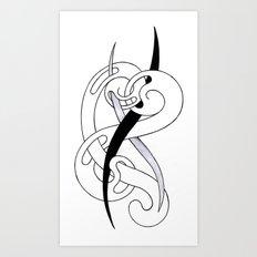Gaps in the Curl Art Print