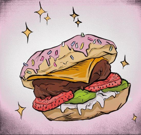 Dessert Burger Art Print