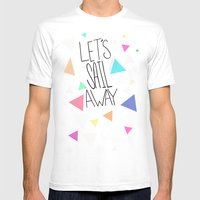 Let's Sail Away Mens Fitted Tee White SMALL