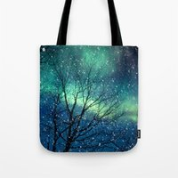 Aurora Borealis Northern Lights Tote Bag