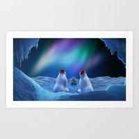 Art Print featuring MERRY CHRISTMAS by Viggart