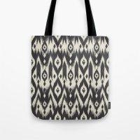Black & Cream Tribal Ika… Tote Bag