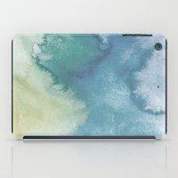 Watercolor blue iPad Case