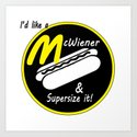 McWiener...Supersized Art Print