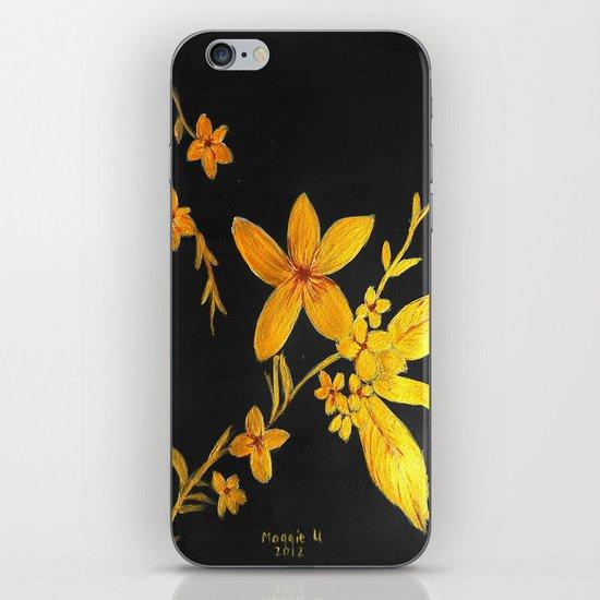 Golden flowers  iPhone & iPod Skin