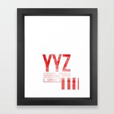 YYZ Framed Art Print