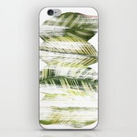 Brushed leaves iPhone & iPod Skin