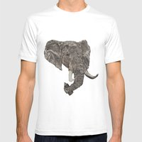Street Elephant Mens Fitted Tee White SMALL