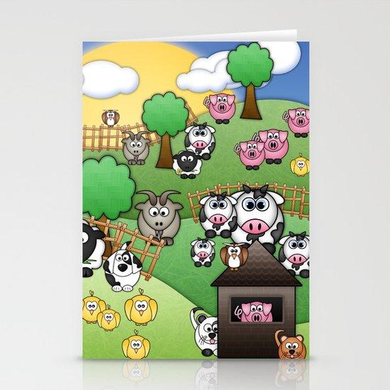 Down On Dingle Dopple Farm Stationery Card