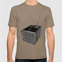 Idiot Box Mens Fitted Tee Tri-Coffee SMALL
