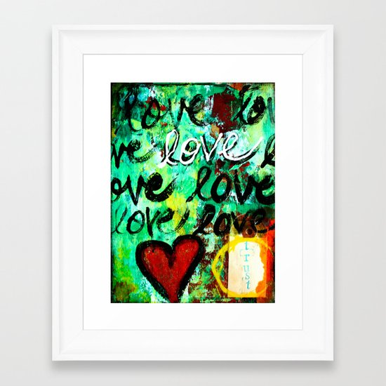 Trust Love Framed Art Print
