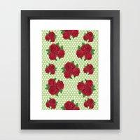 Roses And Polka Dots Framed Art Print
