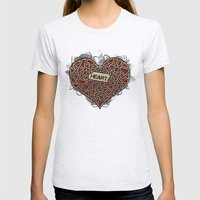 Heart Womens Fitted Tee Ash Grey SMALL