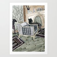 Empty Chair Art Print