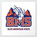 Blue Mountain State Art Print
